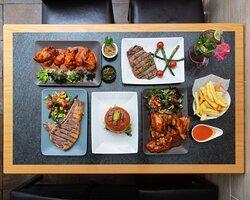 London Ribeye Steakhouse .we served black Angus Halal steak