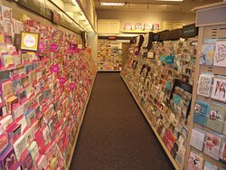 NH - PORTSMOUTH - VOGEL'S – ONE OF THE AISLES OF CARD RACKS