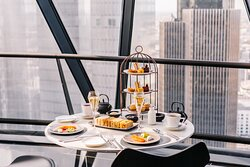 Searcys afternoon tea on top of the Gherkin