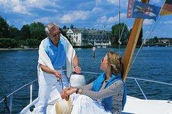 Steigenberger Inselhotel. Constance, Germany - Boating on lake Constance