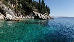 Corfu north east private cruise yacht charter by Balos Yachts