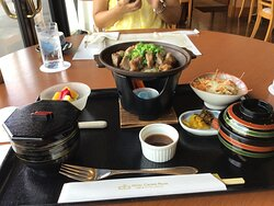Lunch with my wife.