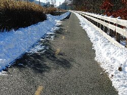 Trail is maintained during the winter months. Snow is plowed from the full length of trail