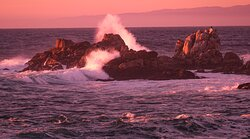 Twilight at the furtherest point on the peninsula - after the lighthouse, before Asilomar....
