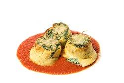 Crepes salate ripiene di Ricotta e spinaci
