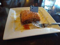 Big baklava dessert; so good!