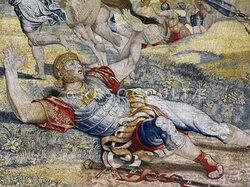 • Raffaello Sanzio, tessitura Pieter van Aelst 1519 (Bruxelles) ~ Leone X