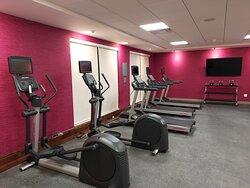Elliptical and treadmill