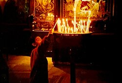 Took this picture a few years ago over the Christmas period at the Church of the Nativity and it seems the ideal image for today.