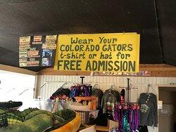 Free admission for Colorado Gators fans 😆
