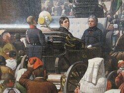 """détail de """"La bénédiction Urbi et Orbi"""" (1840) par Jean-Auguste BARD où Ingres est représenté par son élève"""