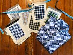 The Natty Dresser offers custom made to measure shirts. choose your favorite from over 200 seasonal selections of fine shirting fabrics.