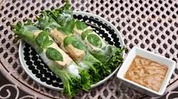 Organic marinated tofu summer rolls