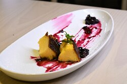 Pudim de Laranja com frutos vermelhos