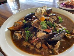 Mariscada - mixed seafood - taste of the ocean.  super delicious, highly recommended!