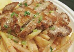 Crispy Chicken Ubi with KG Sauce