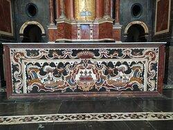 Detalle del altar de la Iglesia del Monasterio
