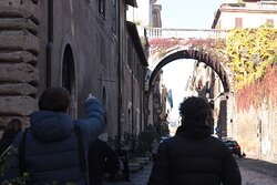Via Giulia, on of the most charming streets of Rome