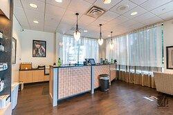 Reception center at Cincinnati's best beauty salon Mitchell's Salon & Day Spa