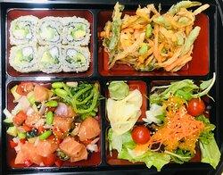 Salmon Poke Bento Box