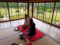 Tea ceremony in such a beautiful old traditional house full of history