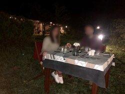 Dinner near the fire