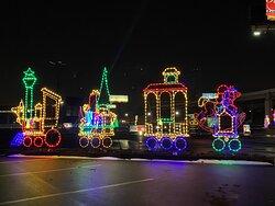 Grand's Winter in Wilmington Drive-Thru Light Show- Christmas train