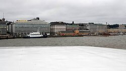 Viking XPRS departure from Helsinki