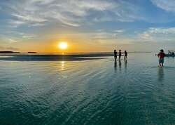 sandbar at sunset