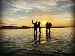 sandbar at sunset!