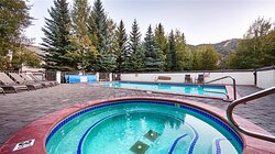 Outdoor Heated Saline Pool and Hot Tub