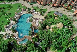 Aston Kaanapali Shores - Aerial of Pool and Garden