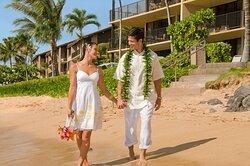 Aston Kaanapali Shores - Wedding Couple Beach