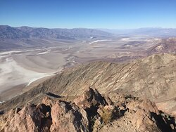 Breathtaking vista from hiking trail at Dante's View in Death Valley National Park