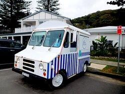 Their cute gelato van