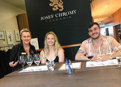 Wine tasting at Josef Chromy with Ride the Vines.