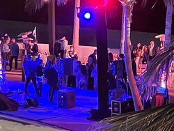 Crowded dance floor at the hotels NYE festivities