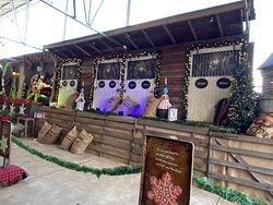 Linvilla Orchards Santa event..reindeer homes