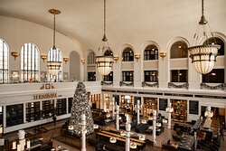 The holidays are one of the most magical times to visit the station. The Great Hall is decked in Christmas decor all month long.