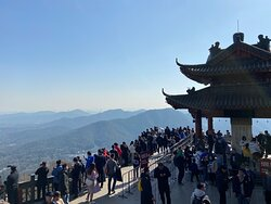 Popular tourist spot among Chinese tourists. You get a view of Hangzhou and the mountains surrounding West Lake. There's also a Buddhist temple atop the mountain but the beauty is ruined these days by a massive antenna tower. Crowded place on the weekends, especially on sunny days. Many tourists taking the cable car all the way to the top. I hiked from LaoheShan behind Zhejiang University Yuquan Campus to The Northern Peak. It normally takes around 1 hour or less depending on how fit you are.