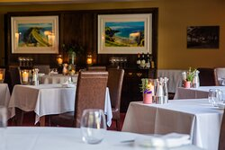 The dining room at Stocks Hotel