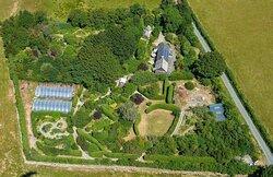 A birds eye view of the gardens