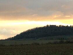 Vue sur le château d'hattonchatel