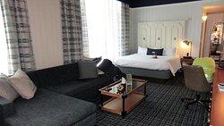 spacious corner room