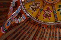 Tono, toit de la yourte mongole avec décoration authentique