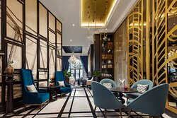 The lounge where diners can sojourn after meals.