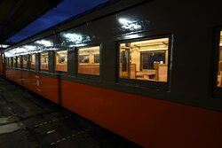 津軽鉄道 ストーブ列車の最終便は昔の夜汽車の雰囲気