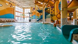 Indoor Pool Waterslide