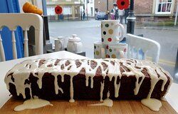 Orange and Carrot Cake, all our cakes are homemade.
