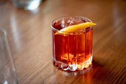 Baffi, an Italian restaurant located in Atlanta's West Midtown Stockyards, features a creative cocktail program.